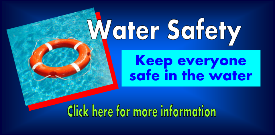 water safety slide